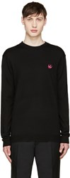 Mcq By Alexander Mcqueen Black Wool Embroidered Sweater