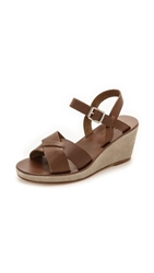 A.P.C. Classic Wedge Sandals Marron Glace
