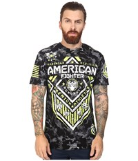American Fighter North Dakota Artisan Short Sleeve Camo Crew Tee Black Men's T Shirt