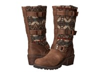 Woolrich Yukon Junction Bitter Chocolate Archival Blanket Women's Boots Brown