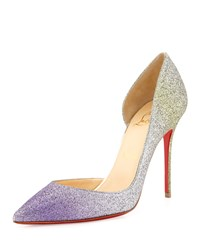 Christian Louboutin Iriza Degrade Glitter Red Sole Pump Drage Light Gold Women's