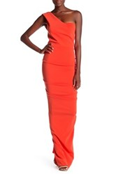 Issue New York One Shoulder Gown Red