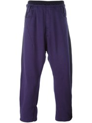 Haider Ackermann Cropped Sweatpants Pink And Purple