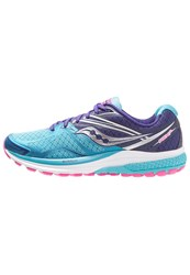 Saucony Ride 9 Cushioned Running Shoes Navy Blue Pink Dark Blue