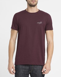 Forvert Burgundy Oliver Paradise Is Now Round Neck T Shirt