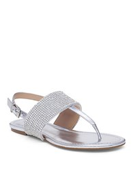 Bcbgeneration Wander Thong Sandals Silver