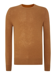 Peter Werth Wilk Lambswool Crew Neck Jumper Tan