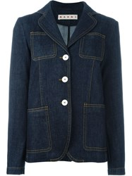 Marni Denim Blazer Blue