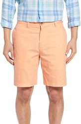 Vineyard Vines Men's 'Summer' 9 Inch Flat Front Twill Shorts Papaya