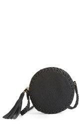 Big Buddha Faux Leather Round Crossbody Bag Black