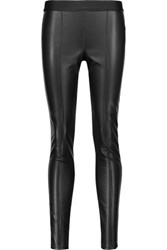 Bailey 44 Serengeti Faux Leather And Stretch Ponte Leggings Black