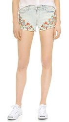 Blank Embroidered Shorts Flower Power