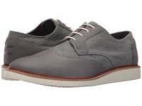 Toms Brogue Dark Grey Leather Washed Canvas Men's Lace Up Casual Shoes Gray