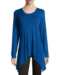Chelsea And Theodore Long Sleeve Shark Bite Top Windy Blue