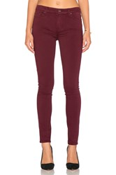 7 For All Mankind Contour Waistband Skinny Burgundy
