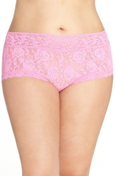 Hanky Panky Plus Size Women's Stretch Lace Boyshorts Enchanted Rose