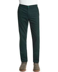 Ag Adriano Goldschmied Slim Fit Stretch Chino Pants Olive Green