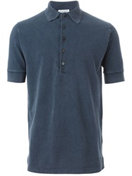 Tomas Maier Shortsleeved Polo Shirt Blue