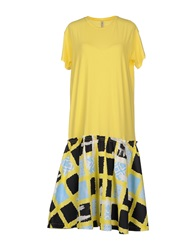 Aimo Richly Knee Length Dresses Yellow