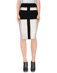 Guess By Marciano Skirts 3 4 Length Skirts Women White