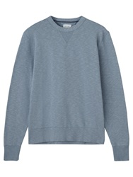 Jigsaw Crew Neck Cotton Sweatshirt Dusky Blue