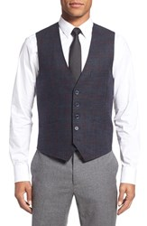 Ted Baker Men's London 'Tightlines' Windowpane Wool And Cotton Vest