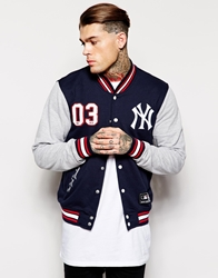 Majestic New York Yankees Sweat Jacket Navy