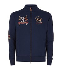 La Martina Logo Embroidered Sweatshirt Male Navy