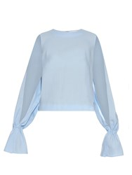Osman Cut Out Sleeve Wool Blouse