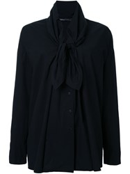 Rundholz Tied Collar Longsleeved Blouse Black
