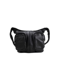 Alexander Wang Donna Lamb Nappa Mat Black Bag