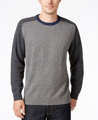 Tricots St Raphael St. Men's Colorblocked Baseball Sweater Cement Heather Navy