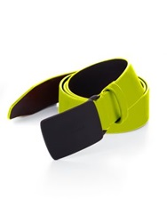 Dsquared Neon Leather Belt Fuchsia Neon Yellow