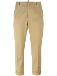 Dsquared2 Cropped Trousers Down Nude And Neutrals