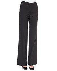 St. John Tropical Modern Stretch Wide Leg Pants Caviar