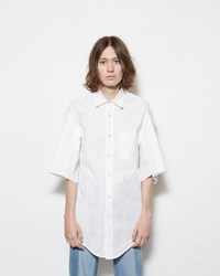 Vetements Short Sleeve Button Up Shirt White
