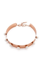 Joomi Lim Small Necklace With Spheres Rose Gold Rhodium