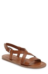 Salvatore Ferragamo Men's 'Nostro' Crisscross Strap Sandal Cuoio Leather