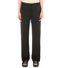 Allsaints Ivana Satin Trousers Ink Blue