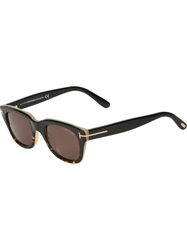 Tom Ford Rectangular Frame Sunglasses Brown
