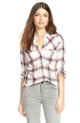 Ace Delivery Plaid Shirt Black Red White