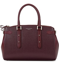 Aspinal Of London Brook Street Saffiano Leather Tote Bag Burgundy