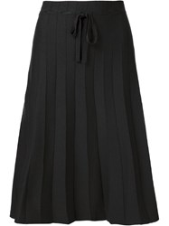 Label Under Construction Pleated Skirt Black
