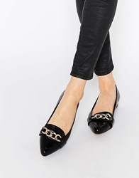 Ravel Chain Point Flat Shoes Black