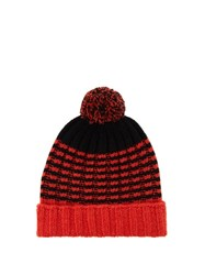 Gucci Wool Pompom Beanie Hat Black Multi