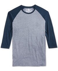 American Rag Men's Everyday Baseball T Shirt Blue Linen
