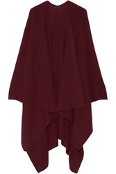 The Row Cappeto Ribbed Cashmere Wrap Burgundy