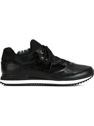 Dolce And Gabbana Faux Fur Panel Sneakers Black