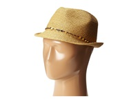 Tommy Bahama Paper Braid Fedora With Sequins Trim Toast Fedora Hats Brown