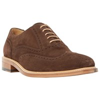 Dune Black Sunbeam Suede Lace Up Oxford Brogues Brown